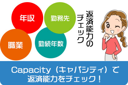 Capacity(キャパシティ)で返済能力をチェック!