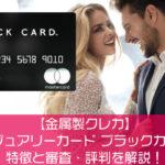 【金属製クレカ】ラグジュアリーカード ブラックカードの特徴と審査・評判を解説!