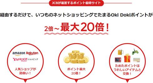 Oki Dokiランドを経由するだけでネットショッピングが最大20倍!