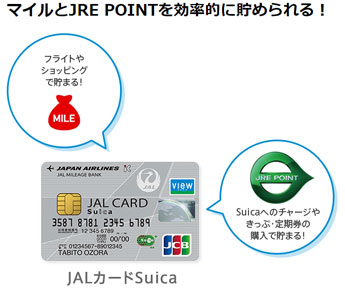 JALカードSuicaのマイルとJRE POINTを攻略しよう!
