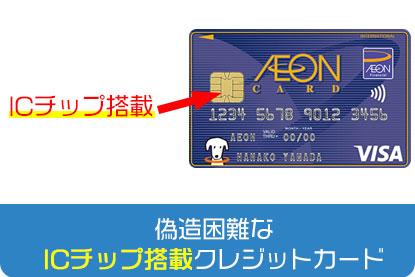 偽造困難なICチップ搭載クレジットカード