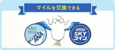 ANA SKY コインに交換してツアーの購入ができる